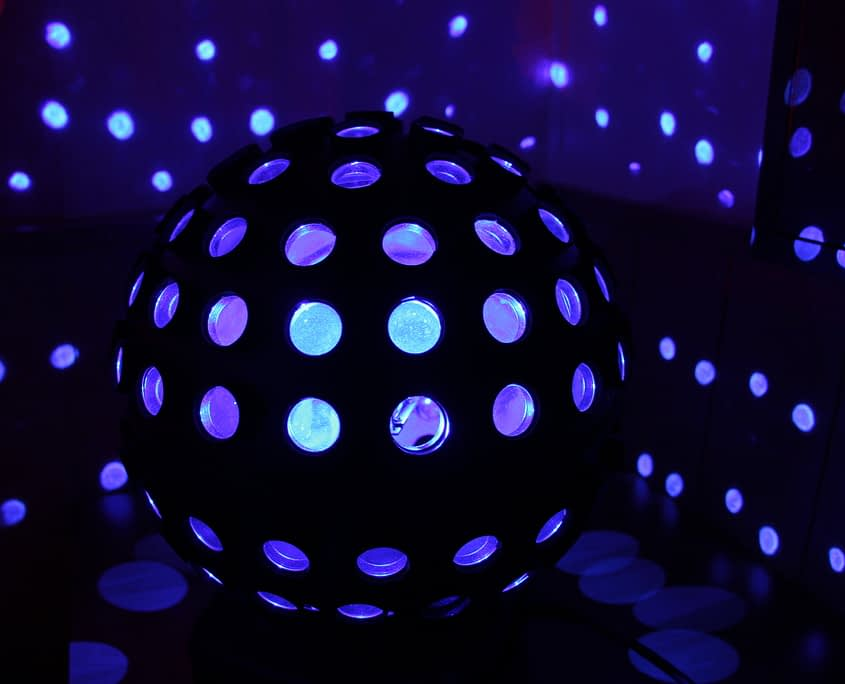 Foto von einem Lichteffekt auf einer Hochzeit